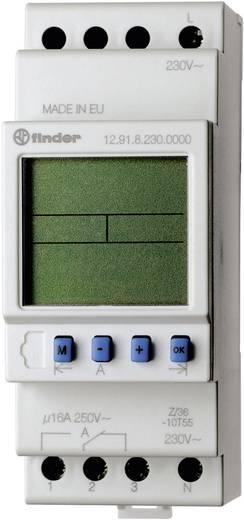 Digitális időkapcsoló óra DIN sínre 230 V/50-60 Hz, 1 váltó 16 A 250 V/AC 4000 VA, Finder 12.91.8.230.0000