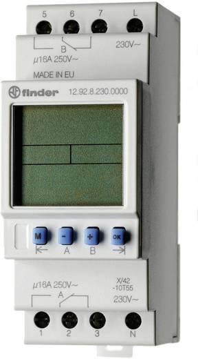 Digitális időkapcsoló óra DIN sínre 230 V/50-60 Hz, 2 váltó 16 A 250 V/AC 4000 VA, Finder 12.92.8.230.0000