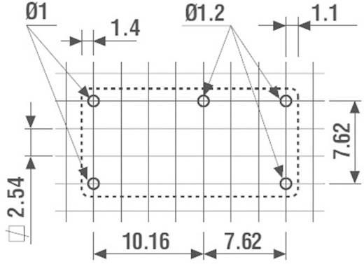 Miniatűr nyák relé 24 V 1 váltó, 6 A 250 V/AC 1500 VA, Finder 32.21.7.024.2000