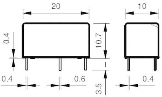 Miniatűr nyák relé 12 V 1 váltó, 6 A 250 V/AC 1500 VA, Finder 32.21.7.012.2000