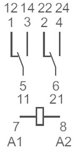 Miniatűr teljesítmény relé 2 váltó 12 A, Finder 56.32.9.024.0040