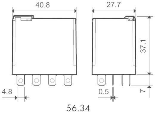 Miniatűr teljesítmény relé 4 váltó 12 A, Finder 56.34.9.024.0040