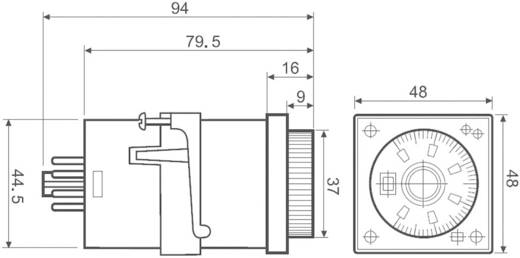 Többfunkciós időzítő relé 24 - 230 V DC/AC 2 váltó, 8 A 250 V/AC 2000 VA, Finder 88.02.0.230.0002