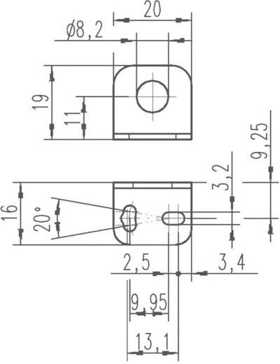 Derékszögű lemez indukciós érzékelő felerősítéséhez, Leuze Electronic BT D12M.5