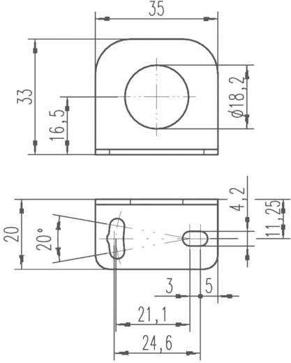 Derékszögű lemez indukciós érzékelő felerősítéséhez, Leuze Electronic BT D18M.5