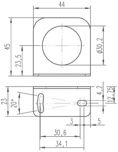 Derékszögű lemez indukciós érzékelő felerősítéséhez, Leuze Electronic BT D30M.5