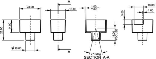 PIR érzékelő 4 - 9 V/DC, nyitási szög: 27 °, hatótáv: 5 m, A27/360