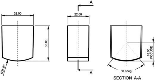 PIR érzékelő 4 - 9 V/DC, nyitási szög: 60 °, hatótáv: 8 m, A60/165