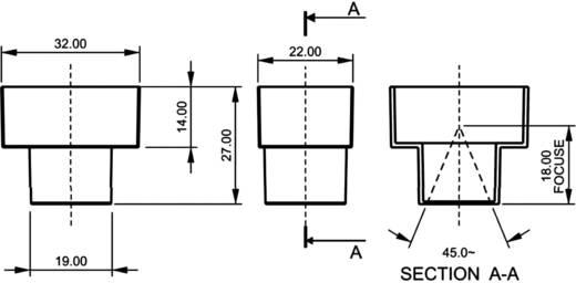 PIR érzékelő 4 - 9 V/DC, nyitási szög: 45 °, hatótáv: 8 m, A215/450