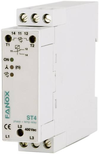 Fázis és termisztor relé, DIN sínre szerelhető, Fanox ST4
