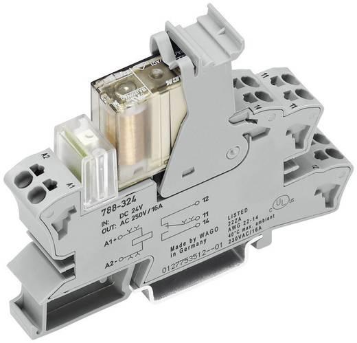 Dugaszoló aljzat kis kapcsoló relével 2 váltó 2x8 A, WAGO 788-346