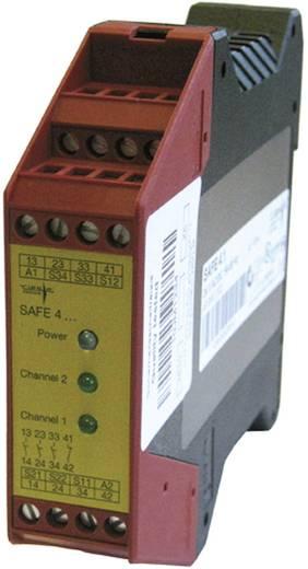 Vészleállító biztonsági relé és biztonsági kapu ellenőrző, 230 V AC, Riese SAFE 4.1