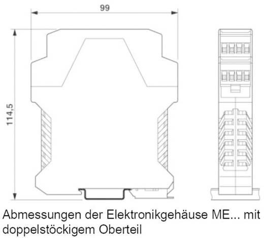 Vészleállító biztonsági relé és biztonsági kapu ellenőrző, 230 V AC, Riese SAFE 4