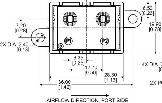 Légáramlás érzékelő szenzor, ±200 cm³/perc, Honeywell HAF BSF 0200 C4AX5