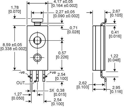 SMD páratartalom érzékelő szenzor (nem kondenzálódó), 0 - 100 %, -40...+85 °C, Honeywell HIH-5030-001