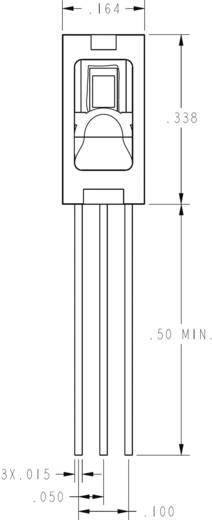 THT-páratartalom érzékelő szenzor, 0 - 100 %, -40...+85 °C, Honeywell HIH-4010-002