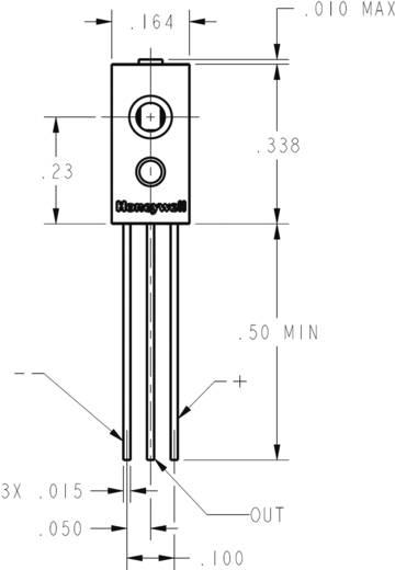 THT-páratartalom érzékelő szenzor, 0 - 100 %, -40...+85 °C, Honeywell HIH-4021-002