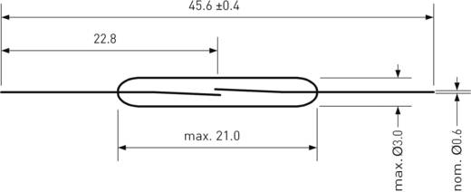 Reed kapcsoló 1 záró 1 A 180 V/DC/ 130 V/AC 10 W, PIC PMC-2003