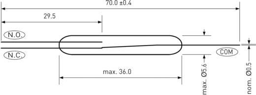 Teljesítmény Reed kapcsoló 1 váltó 1 A 400 V DC/AC 60 W, PIC PMC-3617