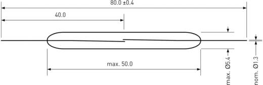 Teljesítmény Reed kapcsoló 1 záró 5 A 250 V DC/AC 250 W, PIC PMC-5002