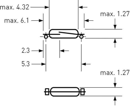 SMD Reed kapcsoló 1 záró 0,01 A 30 V DC/AC 0,25 W, PIC HSR-0025TSM