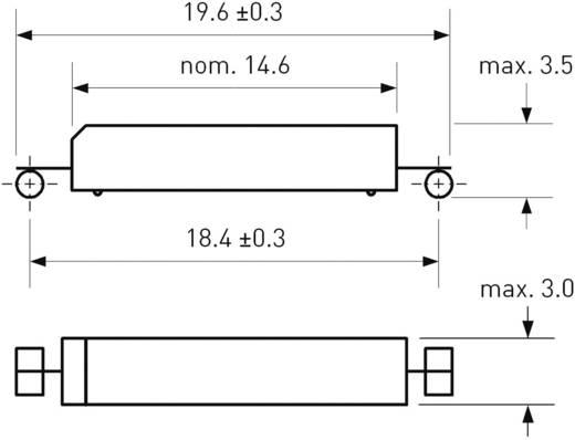 SMD Reed kapcsoló 1 nyitó 0,7 A 180 V/DC/ 130 V/AC 10 W, PIC PMC-1001THY