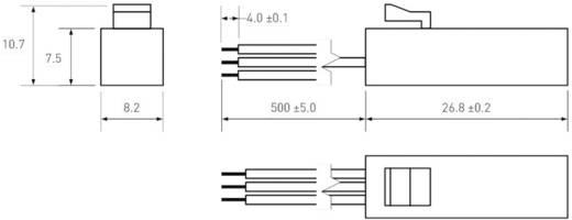Snap-fit miniatűr Reed érzékelő 1 váltó 0,25 A 175 V/DC/ 120 V/AC 5 W, PIC MS-390-4