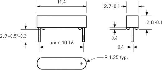 Reed kapcsoló huzal kivezetéssel 1 záró 0,5 A 150 V/DC/ 120 V/AC 10 W, PIC MS-104-3