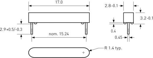 Reed kapcsoló huzal kivezetéssel 1 záró 0,7 A 180 V/DC/ 130 V/AC 10 W, PIC MS-106-3