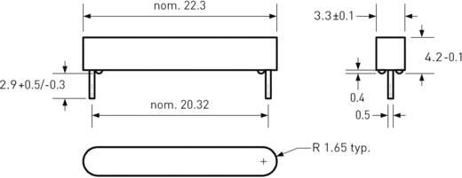 Reed kapcsoló huzal kivezetéssel 1 záró 1 A 200 V/DC/ 140 V/AC 10 W, PIC MS-108-3