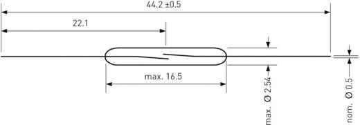 Reed kapcsoló 1 záró 1 A 100 V/DC/ 70 V/AC 10 W, PIC PMC-1601