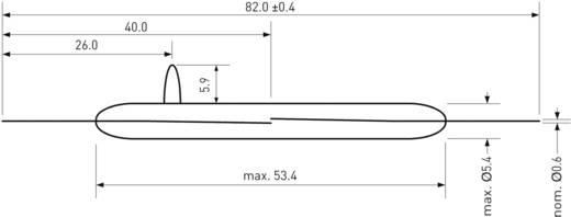 Nagyfeszültségű Reed kapcsoló 1 záró 3 A 10000 V/DC/ 7000 V/AC 50 W, PIC HSR-V15K
