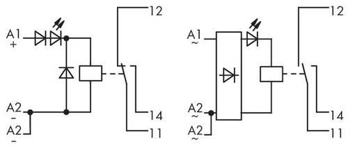 Relé modul 1 váltó 250 V, WAGO 288-504