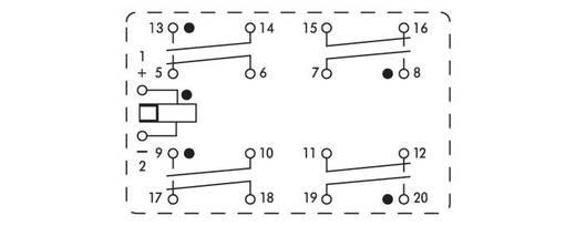 Relé modul, 2 relé 4 nyitó/4 záró 250 V, WAGO 288-428