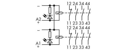Relé modul, 2 relé 1 nyitó/3 záró, WAGO 288-435