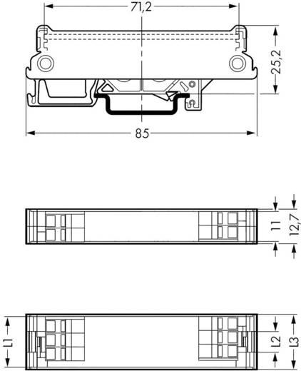 Talp TS 35 szerelő sínre, WAGO 288-602