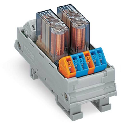 Relé modul, 2 relé 1 váltó 250 V, WAGO 288-762