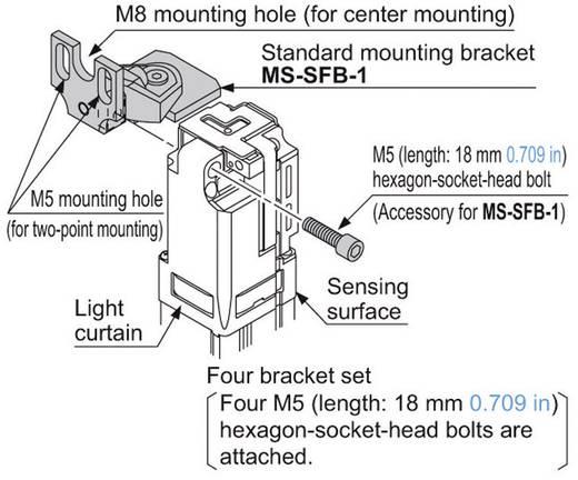 Derékszögű rögzítő lemez a biztonsági fényfüggönyhöz (4 darab), Panasonic MSSFB1