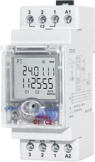 Időkapcsoló óra 2 váltó 16 A 190-260 V/AC, ENTES DTR-20