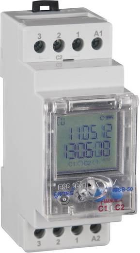 Időkapcsoló óra 190 - 260 V/AC 2 váltó 8 A, ENTES MCB-50