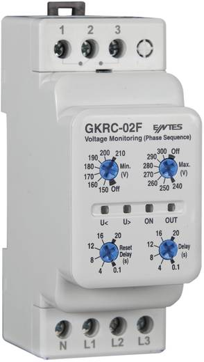 Feszültségfigyelő relé 1 váltó 8 A, ENTES GKRC-02F