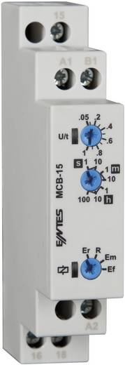 Multifunkciós időrelé 24 - 240 V DC/AC, 1 váltó 8 A, ENTES MCB-15