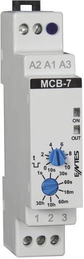 Időrelé 24 V/AC/DC/ 230 V/AC 1 váltó 8 A, ENTES MCB-7