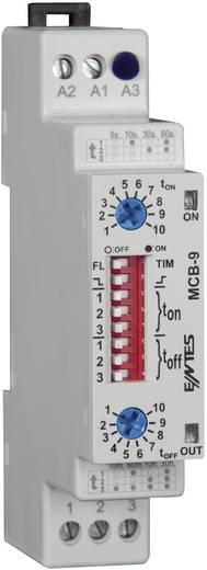 Időrelé 24 V/AC/DC/ 230 V/AC 1 váltó 8 A, ENTES MCB-9