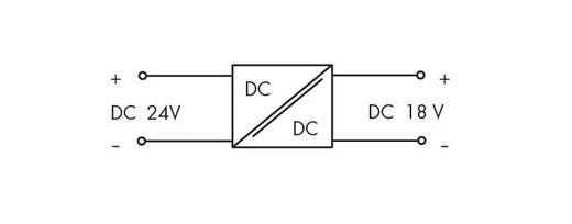 DC/DC átalakító 24 V/DC, WAGO 288-895