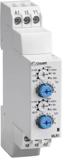Elektronikus időrelé 24 V/DC/ 24 - 240 V/AC, 1 váltó 8 A DC/AC 250 V DC/AC 2000 VA/ 80 W, Chronos 2 Crouzet MLR1