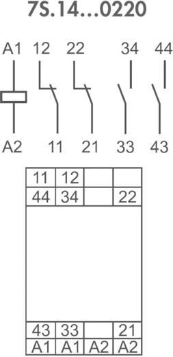 Relé modul kényszervezetésű érintkezőkkel 2 záró/2 nyitó 6 A, Finder 7S.14.9.024.0220