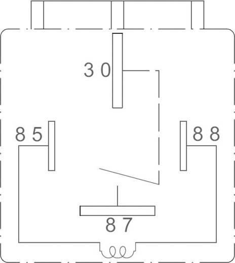Autós relé, 12 VDC, 80 A/30 VDC, 1120 W, MINI ISO, Zettler Electronics AZ979-1A-12D