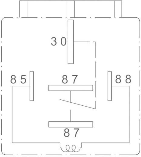 Autós relé, 24 VDC, 60 A/30 VDC, 1120 W, MINI ISO, Zettler Electronics AZ979-1C-24D