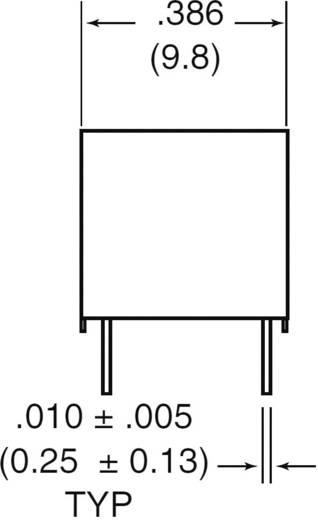 Szubminiatűr DIP relé 12 V/DC 2 váltó, 1 A 24 V/DC/120 V/AC, Zettler Electronics AZ822-2C-12DSE